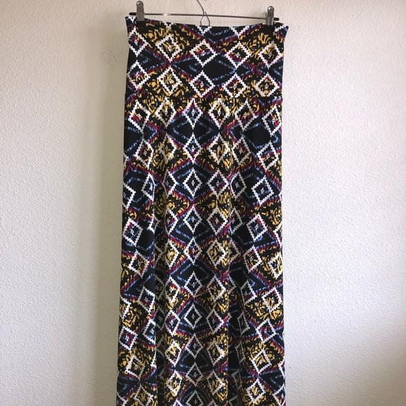cf1a9e772 NWT LuLaRoe Aztec Maxi Skirt New black background with Aztec